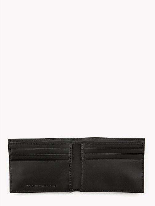 TOMMY HILFIGER Signature Stripe Fold Over Leather Wallet - BLACK - TOMMY HILFIGER Wallets & Keyrings - detail image 1