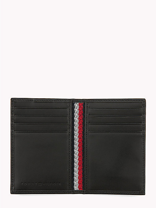 TOMMY HILFIGER Corporate Slim Leather Card Holder - BLACK - TOMMY HILFIGER NEW IN - detail image 1
