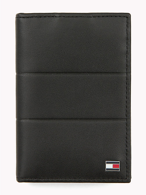 TOMMY HILFIGER Corporate Slim Leather Card Holder - BLACK - TOMMY HILFIGER NEW IN - main image
