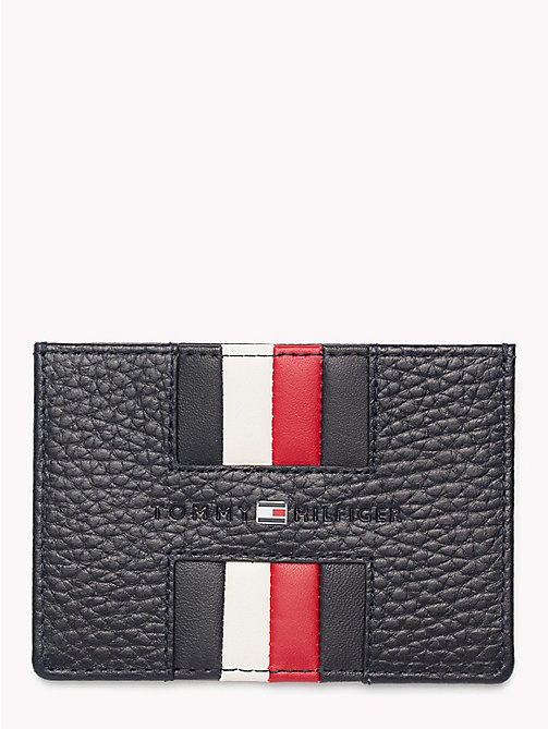 TOMMY HILFIGER Heritage Panelled Leather Cardholder - TOMMY NAVY - TOMMY HILFIGER Wallets & Keyrings - main image