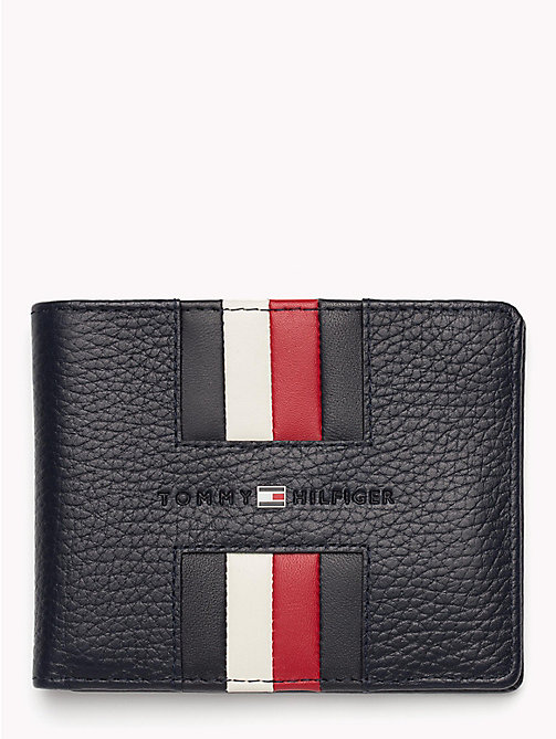 TOMMY HILFIGER Heritage Small Panelled Leather Wallet - TOMMY NAVY - TOMMY HILFIGER NEW IN - main image