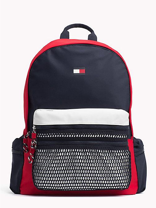 TOMMY HILFIGER Kids' Signature Colour-Blocked Backpack - CORPORATE - TOMMY HILFIGER Bags & Accessories - main image