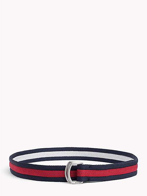 TOMMY HILFIGER Signature Stripe Webbed Belt - CORPORATE - TOMMY HILFIGER Bags & Accessories - main image