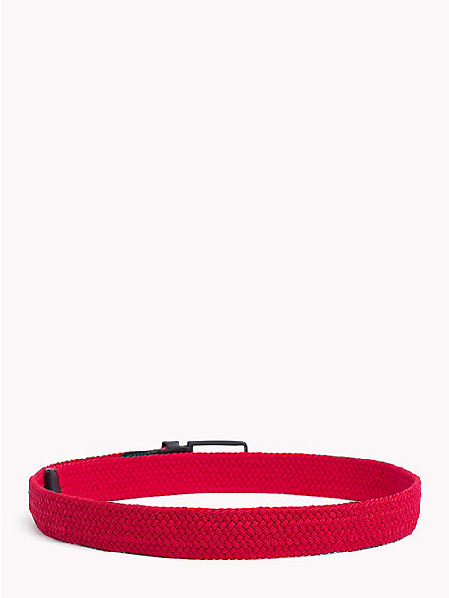 TOMMY HILFIGER Stretch Woven Belt - TOMMY RED - TOMMY HILFIGER Belts - detail image 1