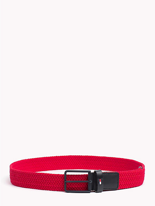 TOMMY HILFIGER Stretch Woven Belt - TOMMY RED - TOMMY HILFIGER Bags & Accessories - main image