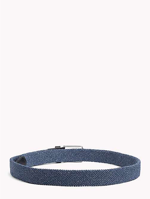TOMMY HILFIGER Stretch Denim Belt - DENIM - TOMMY HILFIGER Belts - detail image 1