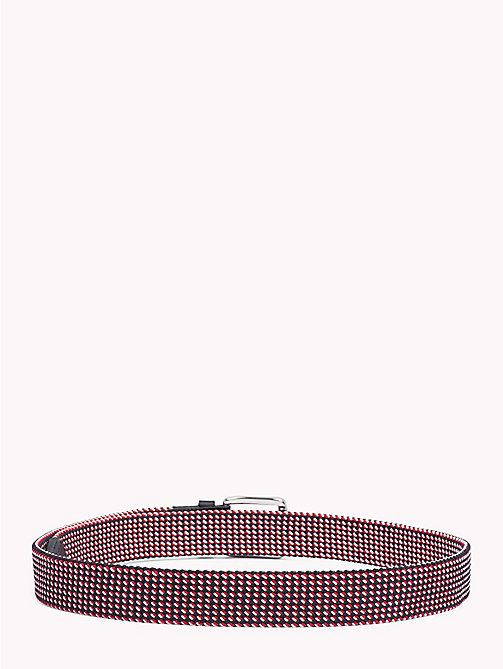 TOMMY HILFIGER Signature Diamond Weave Elasticated Belt - CORPORATE - TOMMY HILFIGER Bags & Accessories - detail image 1