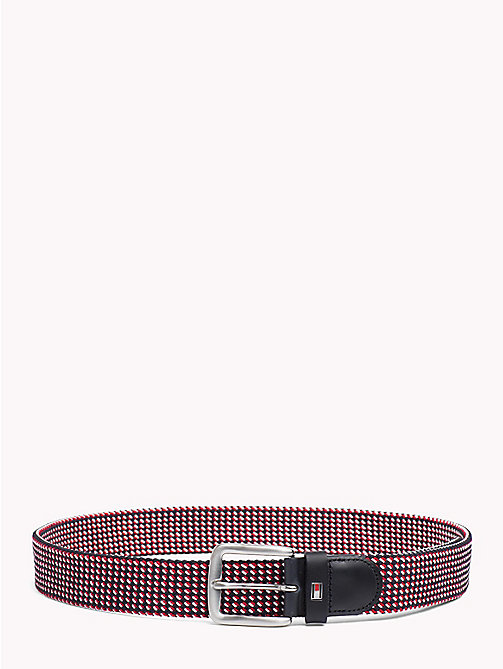 TOMMY HILFIGER Signature Diamond Weave Elasticated Belt - CORPORATE - TOMMY HILFIGER Bags & Accessories - main image