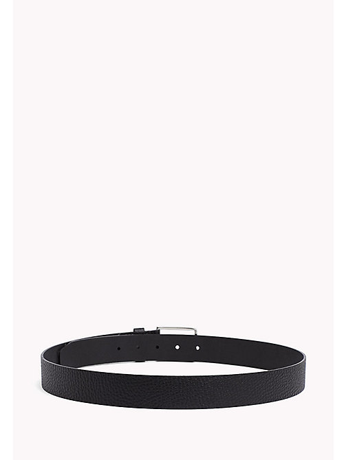 TOMMY HILFIGER Grained Leather Belt - BLACK - TOMMY HILFIGER Bags & Accessories - detail image 1