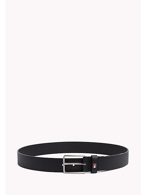 TOMMY HILFIGER Grained Leather Belt - BLACK - TOMMY HILFIGER Bags & Accessories - main image