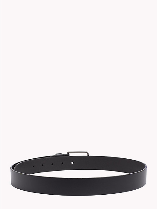 TOMMY HILFIGER Smooth Leather Belt - BLACK - TOMMY HILFIGER Belts - detail image 1