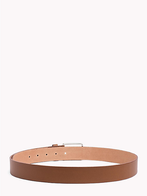 TOMMY HILFIGER Smooth Leather Belt - DARK TAN - TOMMY HILFIGER Belts - detail image 1