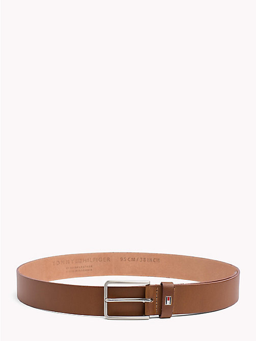 TOMMY HILFIGER Smooth Leather Belt - DARK TAN - TOMMY HILFIGER Belts - main image