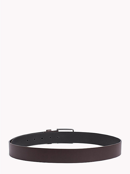 TOMMY HILFIGER Smooth Leather Belt - TESTA DI MORO - TOMMY HILFIGER Bags & Accessories - detail image 1