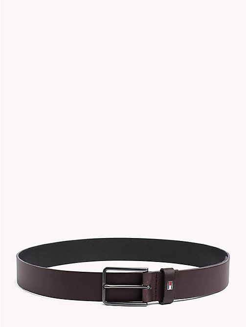 TOMMY HILFIGER Smooth Leather Belt - TESTA DI MORO -  Bags & Accessories - main image