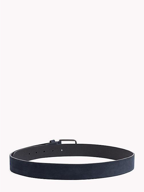 TOMMY HILFIGER Adjustable Nubuck Leather Belt - AIRFORCE BLUE - TOMMY HILFIGER Belts - detail image 1