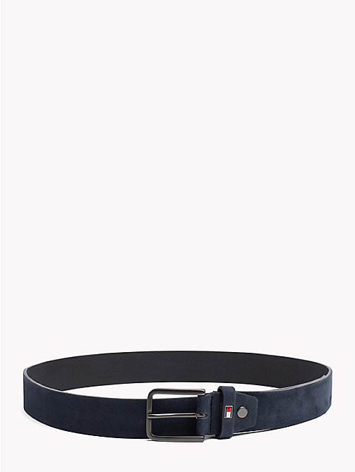 TOMMY HILFIGER Adjustable Nubuck Leather Belt - AIRFORCE BLUE - TOMMY HILFIGER Belts - main image
