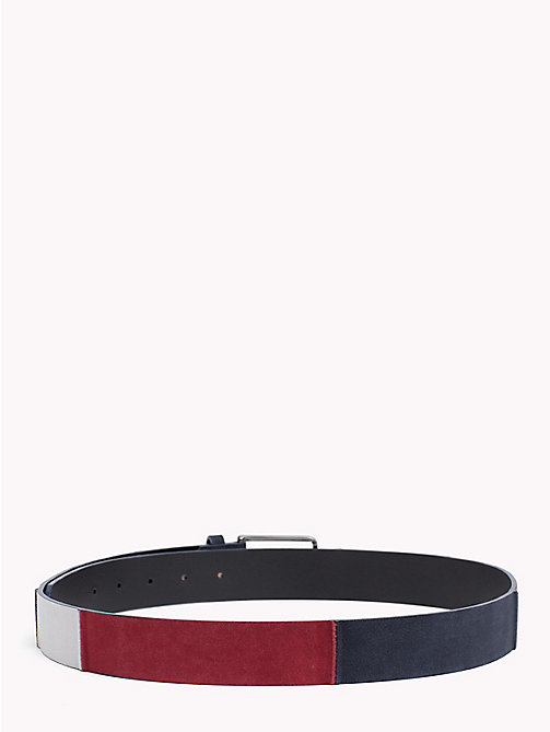 TOMMY HILFIGER Colour-Blocked Suede Belt - CORPORATE - TOMMY HILFIGER Belts - detail image 1