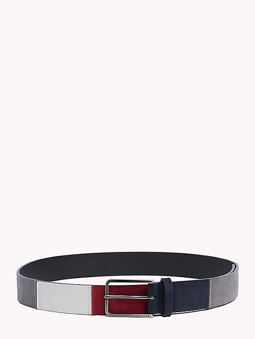 TOMMY HILFIGER Colour-Blocked Suede Belt - CORPORATE - TOMMY HILFIGER Belts - main image