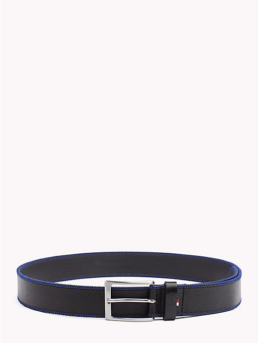 TOMMY HILFIGER Stitch Detail Belt - BLACK - TOMMY HILFIGER NEW IN - main image