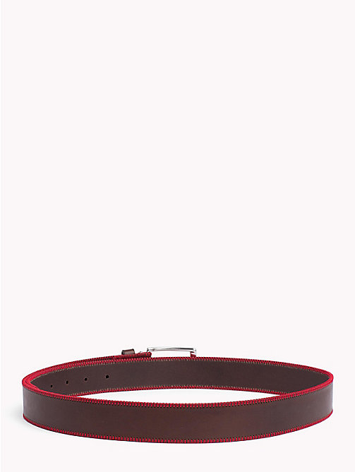 TOMMY HILFIGER Stitch Detail Belt - BROWN - TOMMY HILFIGER NEW IN - detail image 1