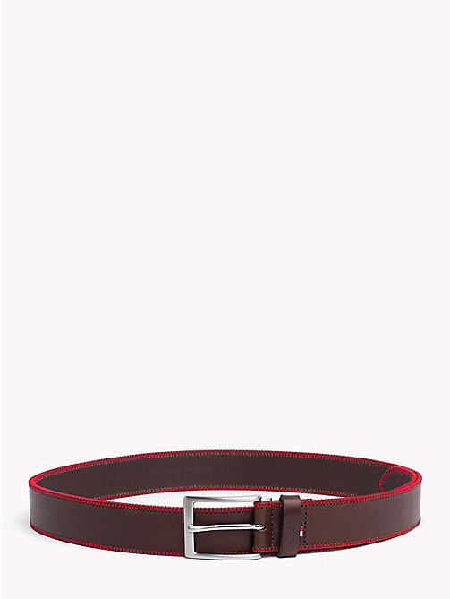 TOMMY HILFIGER Stitch Detail Belt - BROWN - TOMMY HILFIGER NEW IN - main image