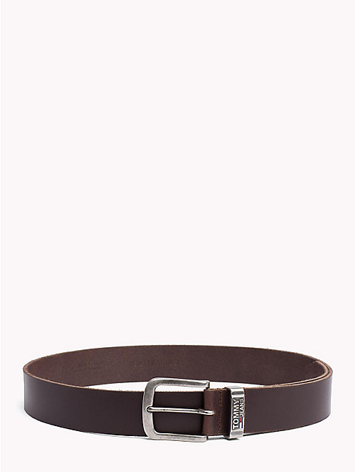 TOMMY JEANS Metal Loop Logo Belt - TESTA DI MORO - TOMMY JEANS NEW IN - main image