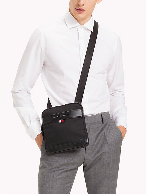 TOMMY HILFIGER Tailored Nylon Cross-Body Bag - BLACK - TOMMY HILFIGER Crossbody Bags - detail image 1