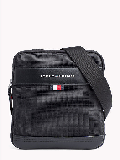 TOMMY HILFIGER Tailored Nylon Cross-Body Bag - BLACK - TOMMY HILFIGER Crossbody Bags - main image