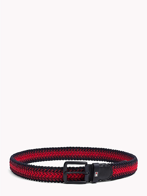 TOMMY HILFIGER Herringbone Weave Elasticated Belt - CORPORATE - TOMMY HILFIGER Bags & Accessories - main image