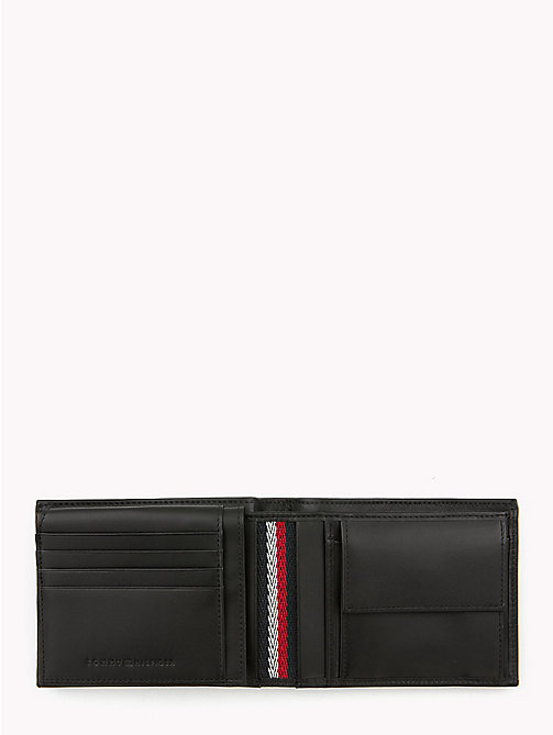 TOMMY HILFIGER Embossed Leather Wallet - BLACK - TOMMY HILFIGER NEW IN - detail image 1