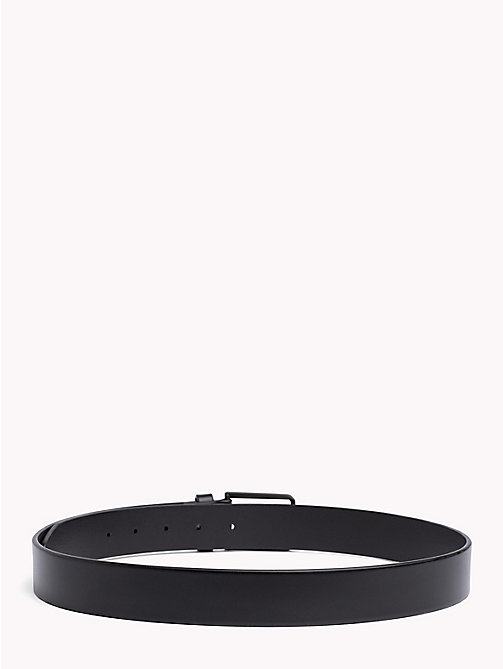 TOMMY HILFIGER Matte Buckle Leather Belt - BLACK - TOMMY HILFIGER Belts - detail image 1