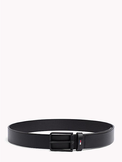 TOMMY HILFIGER Matte Buckle Leather Belt - BLACK - TOMMY HILFIGER Belts - main image