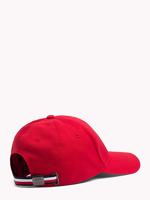 TOMMY HILFIGER Logo Badge Cap - HAUTE RED - TOMMY HILFIGER Hats - detail image 1