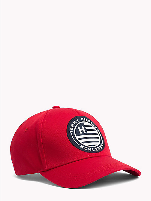 TOMMY HILFIGER Logo Badge Cap - HAUTE RED - TOMMY HILFIGER Hats - main image