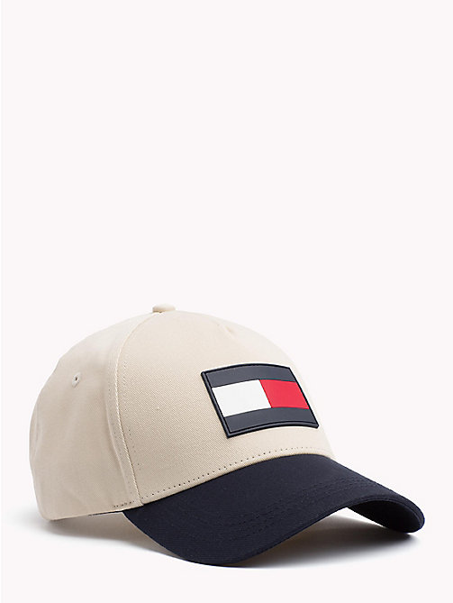TOMMY HILFIGER Colour-Blocked Flag Cap - OYSTER GRAY - TOMMY HILFIGER Bags & Accessories - main image