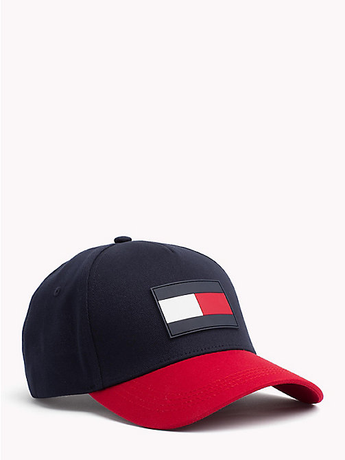 TOMMY HILFIGER Colour-Blocked Flag Cap - TOMMY NAVY - TOMMY HILFIGER Bags & Accessories - main image