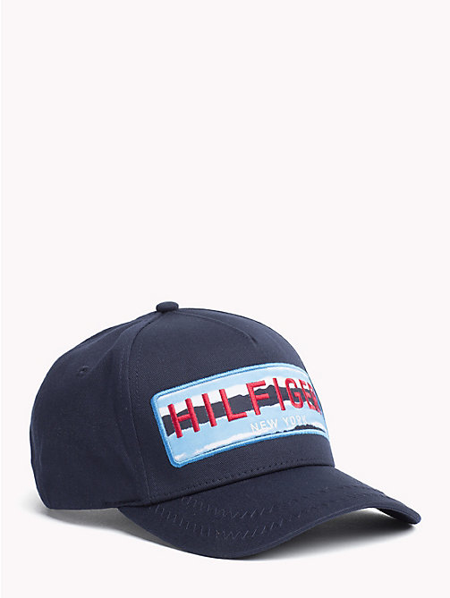 TOMMY HILFIGER Logo Embroidery Baseball Cap - TOMMY NAVY- CLOUD - TOMMY HILFIGER Hats - main image