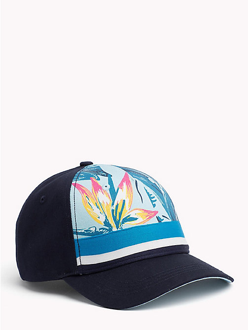 TOMMY HILFIGER Tropical Print Cap - LIGHT BLUE FLORAL - TOMMY HILFIGER Hats - main image