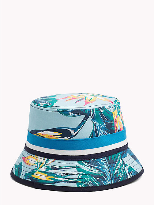 TOMMY HILFIGER Tropical Print Bucket Hat - LIGHT BLUE FLORAL - TOMMY HILFIGER Bags & Accessories - detail image 1