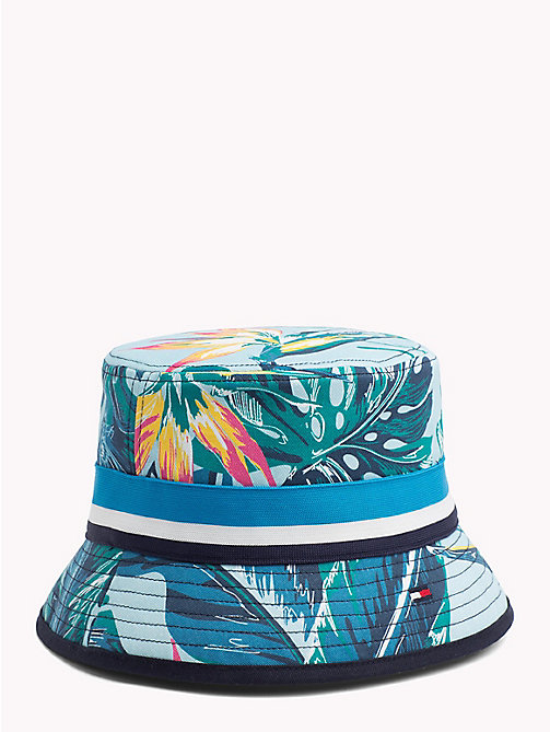 TOMMY HILFIGER Tropical Print Bucket Hat - LIGHT BLUE FLORAL - TOMMY HILFIGER Hats - main image
