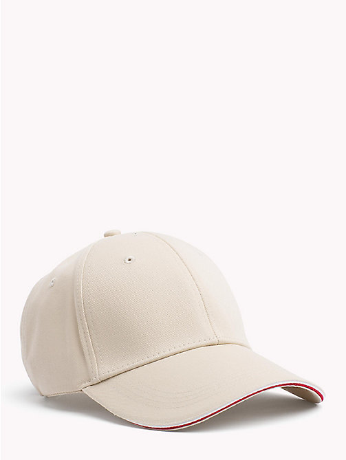 TOMMY HILFIGER Signature Stripe Baseball Cap - OYSTER GRAY - TOMMY HILFIGER Bags & Accessories - main image