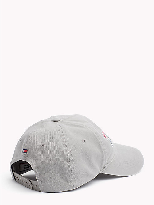TOMMY JEANS Logo Baseball Cap - LIGHT GREY HTR - TOMMY JEANS Hats - detail image 1