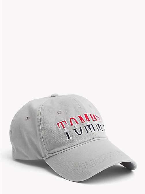 TOMMY JEANS Logo Baseball Cap - LIGHT GREY HTR - TOMMY JEANS Hats - main image