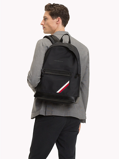 TOMMY HILFIGER Easy Stripe Backpack - BLACK - TOMMY HILFIGER Bags & Accessories - detail image 1