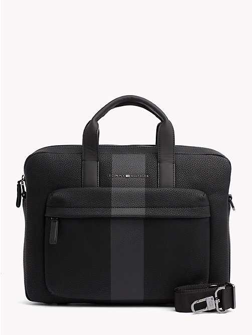 TOMMY HILFIGER Tommy Tape Laptop Bag - BLACK - TOMMY HILFIGER Laptop Bags - main image