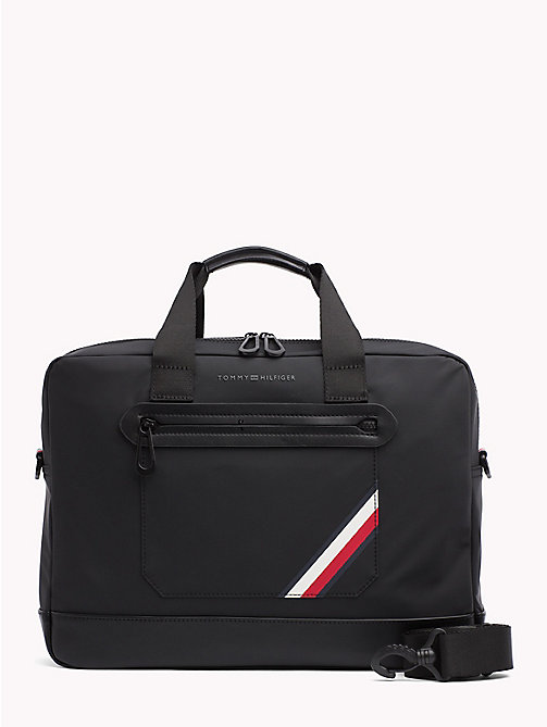 TOMMY HILFIGER Sac d'ordinateur léger à bande emblématique Easy - BLACK - TOMMY HILFIGER Porte-documents - image principale