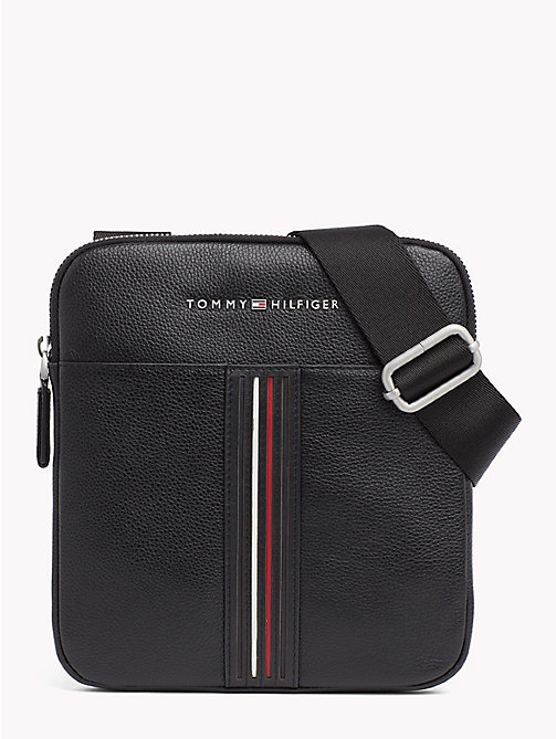 TOMMY HILFIGER Inlay Leather Crossover Bag - BLACK - TOMMY HILFIGER Crossbody Bags - main image