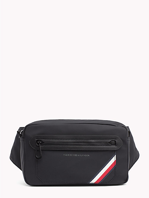 TOMMY HILFIGER Crossbodytas met signature-tape - BLACK - TOMMY HILFIGER NIEUW - main image