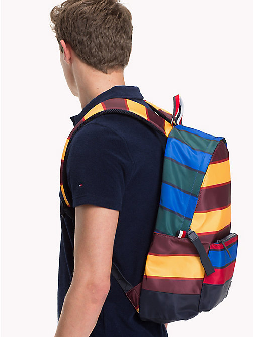 TOMMY HILFIGER Escape Multicolour Stripe Print Backpack - STRIPES - TOMMY HILFIGER Bags & Accessories - detail image 1